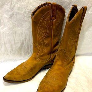 Boulet Tan Cowboy Boots Sz 8 1/2
